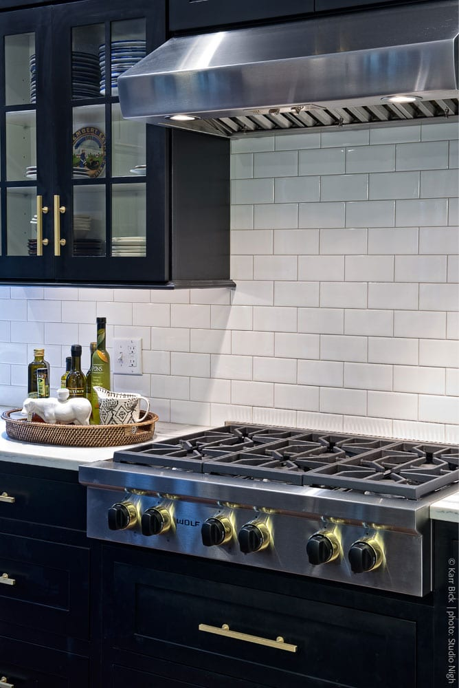 kitchen remodel dark cabinets, subway tile, contemporary