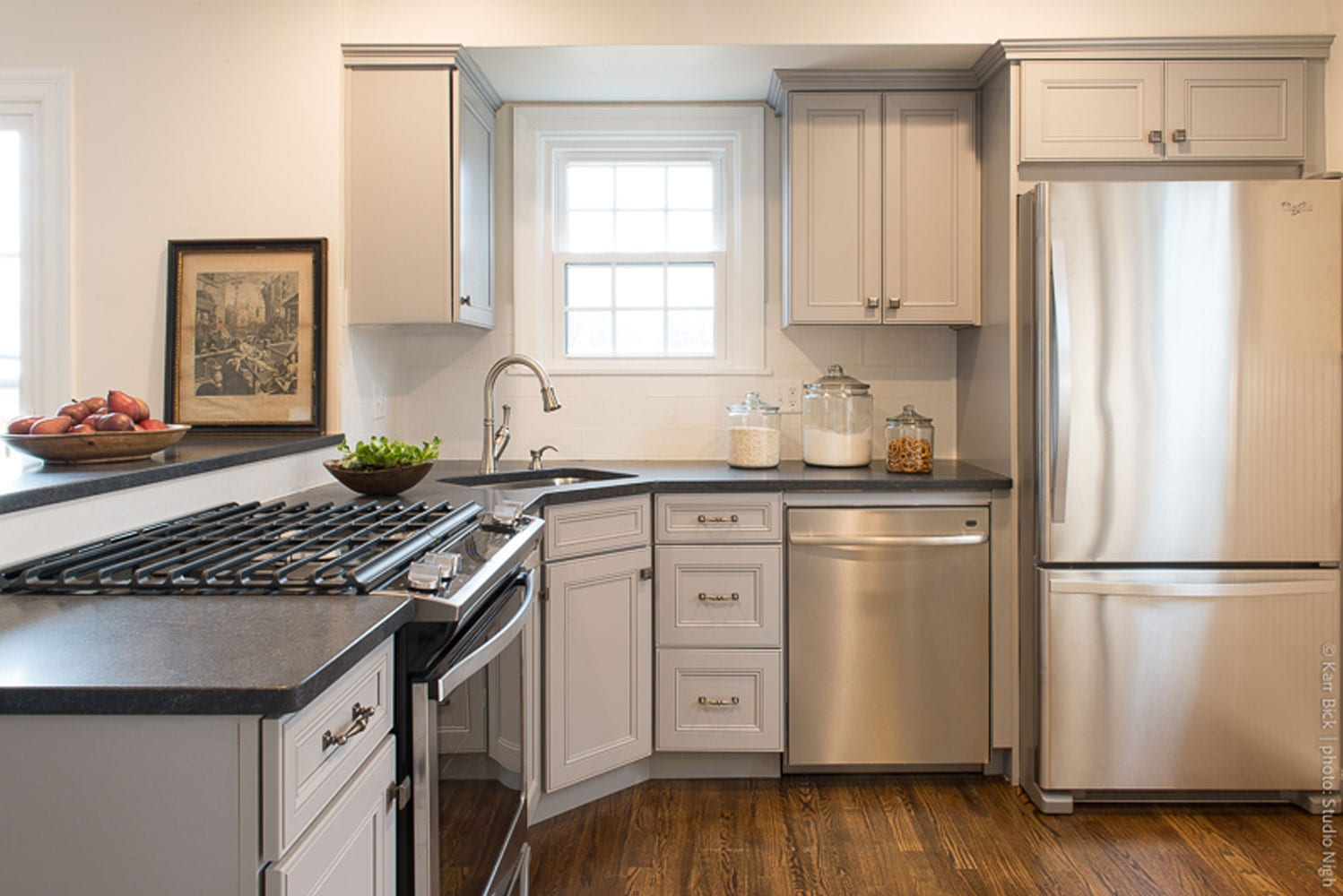 kitchen remodel white cabinets, transitional