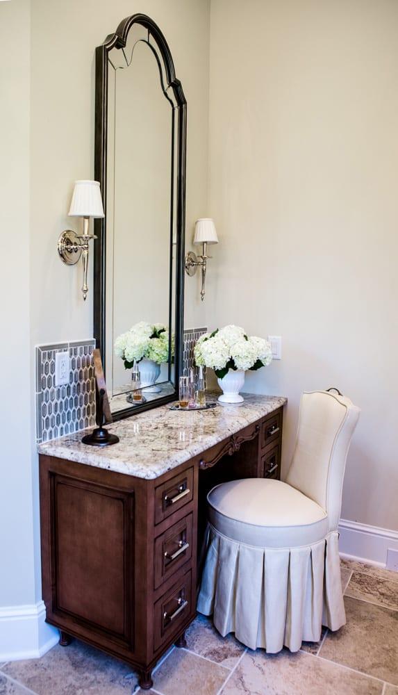 bathroom remodel dark cabinets, dressing table