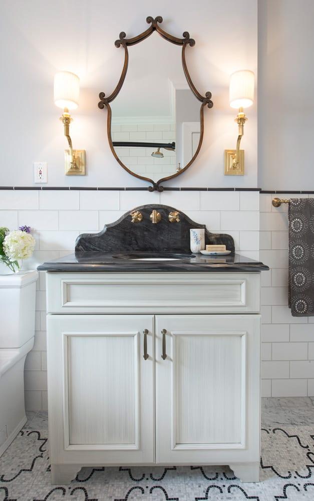 bathroom remodel, subway tile
