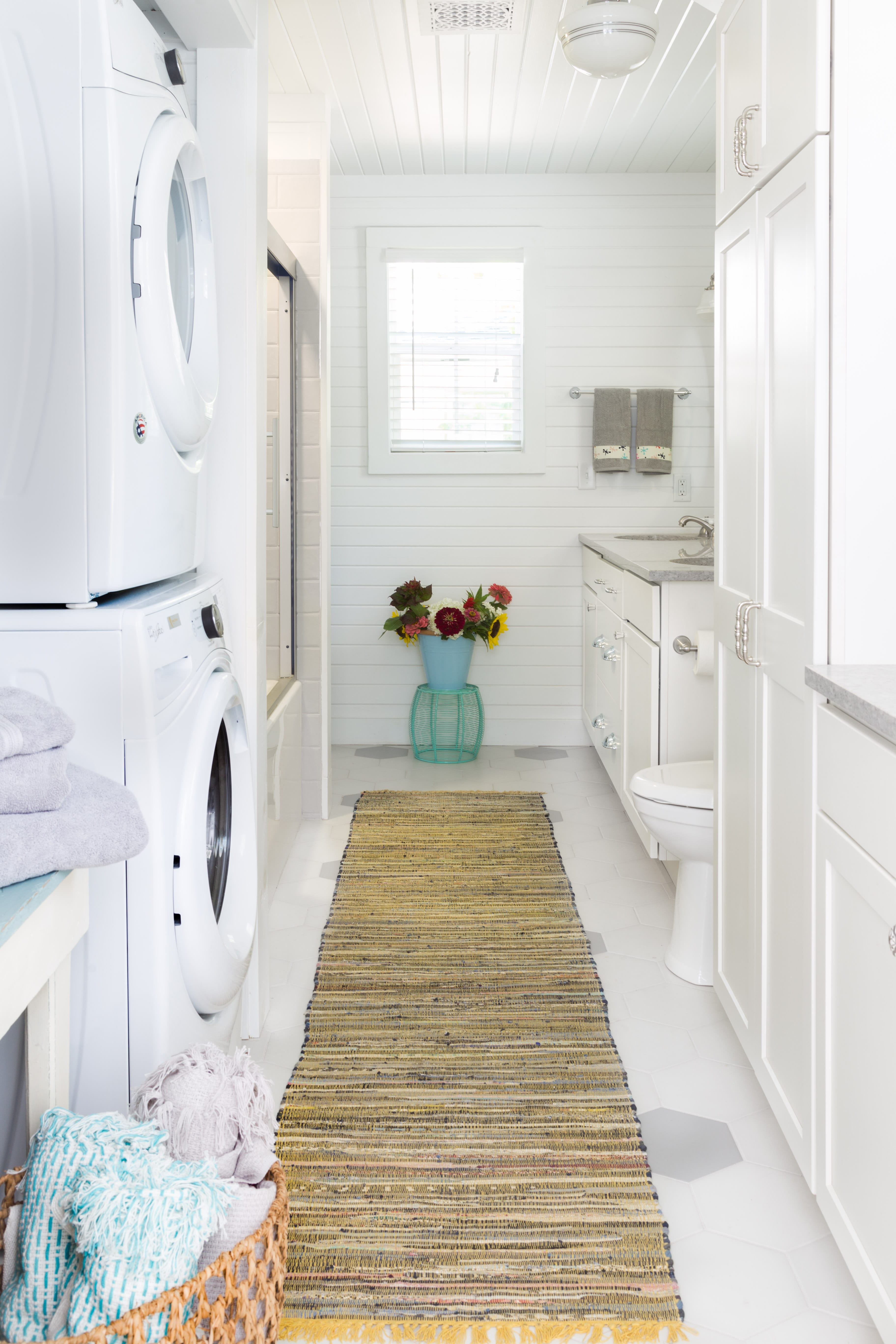 laundry room with bathroom remodel
