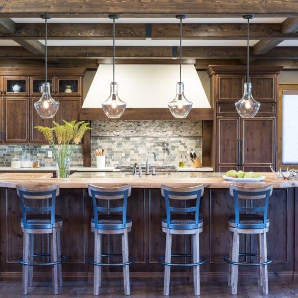 Rustic Montana Lodge Kitchen