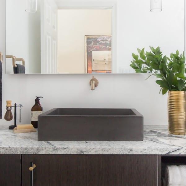 Black Honeycomb Bathroom